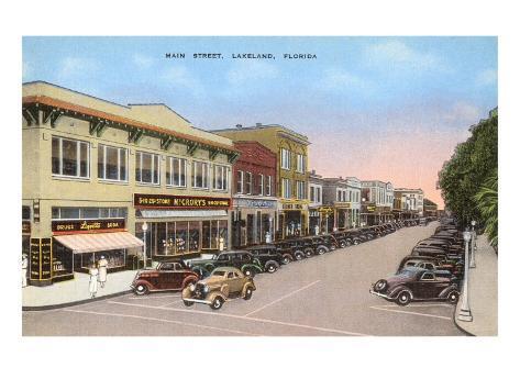 Main Street, Lakeland, Florida Art Print