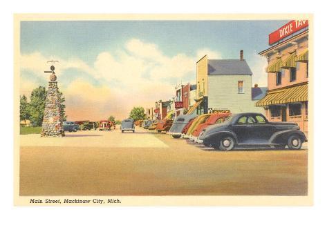 Main Street, Mackinaw City, Michigan Art Print