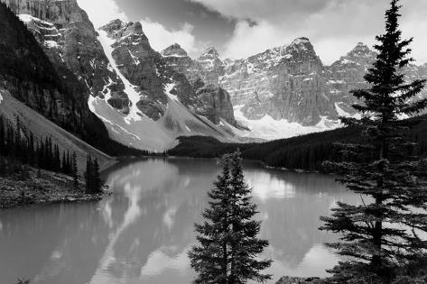 Majestic Moraine Lake, Alberta Stretched Canvas Print