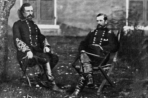 Major General Custer, General Pleasanton Wall Decal