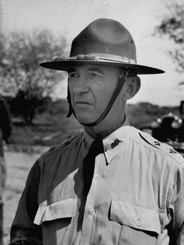 Major General Walter Krueger, Wearing Complete Uniform Photographic Print