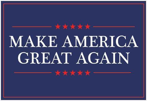 オールポスターズの make america great again アートポスター