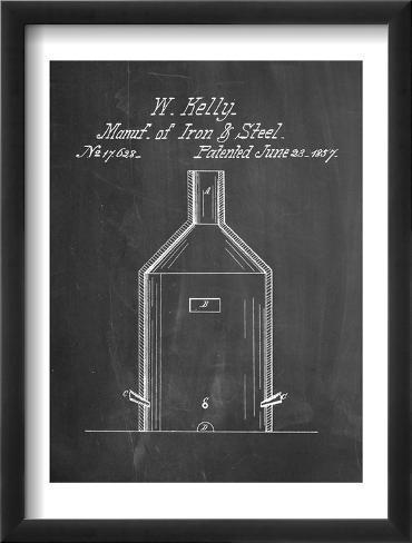 Making Of Steel Patent Framed Art Print