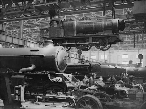 Making Trains Photographic Print