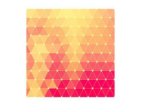 Vector Abstract Geometric Pattern Art Print