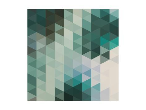 Vector Abstract Triangles Background Art Print