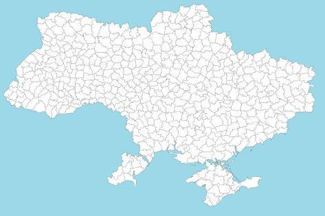 Map of the Ukraine Art Print