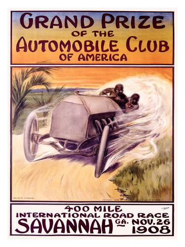 Automobile Club of America, Savannah Race Giclee Print