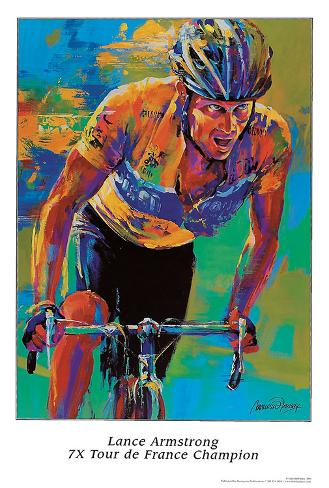 Lance Armstrong, Seven Times Tour de France Champion Art Print
