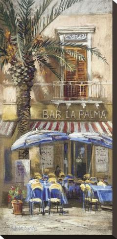 Bar La Palma Stretched Canvas Print