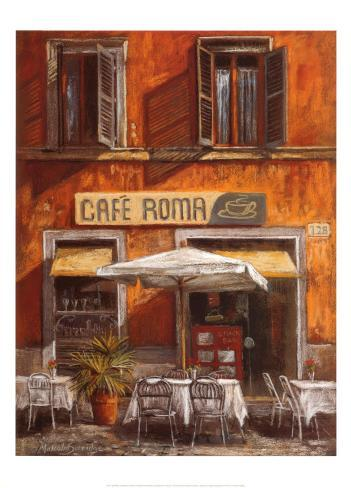 Cafe Roma Art Print