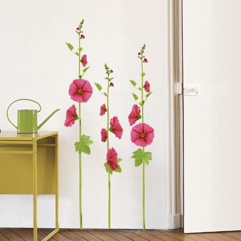 Malvas-rosa Adesivo de parede