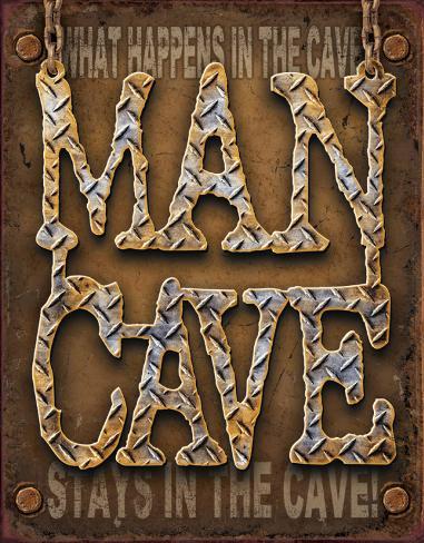 Man Cave - Diamond Plate Tin Sign