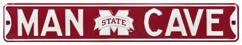 Man Cave Mississippi State Steel Sign Wall Sign