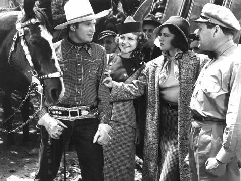 Man From Music Mountain, Gene Autry, Sally Payne, Carol Hughes, 1938 Photo