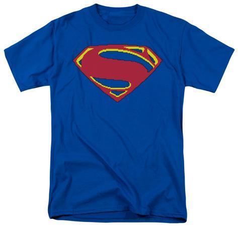 Man of Steel - 8 Bit Shield T-Shirt
