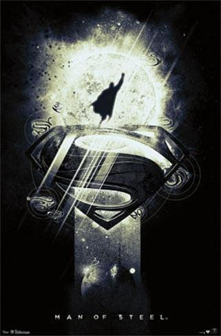 Man of Steel Superman Glow in the Dark Movie Poster Poster