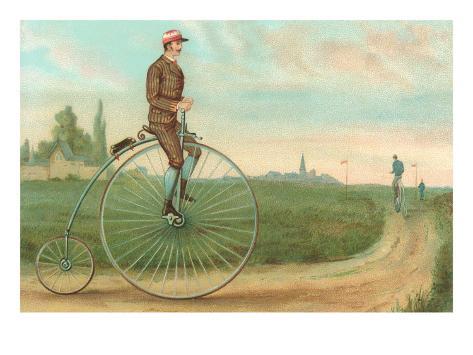 Man on Penny-Farthing Art Print