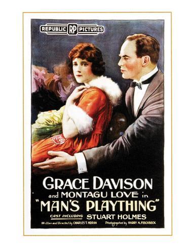 Man's Plaything - 1920 Giclee Print