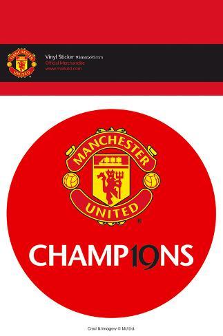 Manchester United - 19 Titles Vinyl Sticker Stickers
