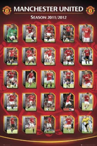 Manchester United FC 2011-12 Squad Profiles Sports Poster Print Poster