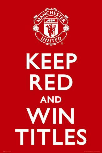 Manchester United - Keep Red Poster