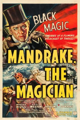 MANDRAKE THE MAGICIAN, Warren Hull, Movie Poster, 1939 Art Print