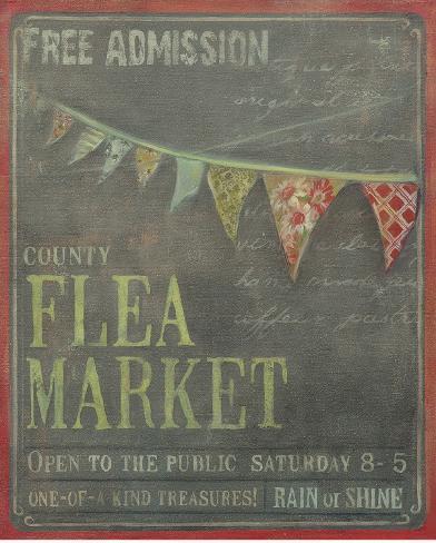 County Flea Market Art Print