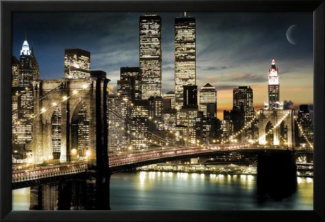 Manhattan Lamina Framed Poster