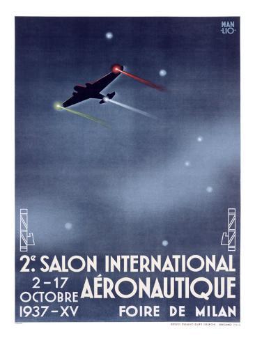 Salon International Aeronautique Giclee Print