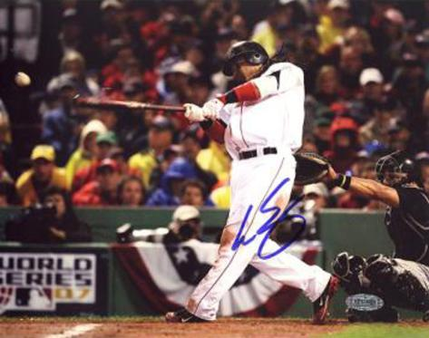 Manny Ramirez 2007 WS Game 1 RBI Single Autographed Photo (Hand Signed Collectable) Photo