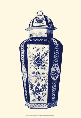 Manor Porcelain in Blue IV Lámina