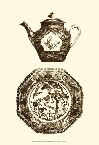 Manor Porcelain in Brown I Lámina
