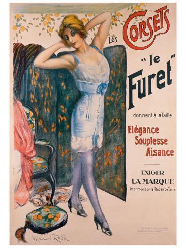 Corsets le Furet Giclee Print