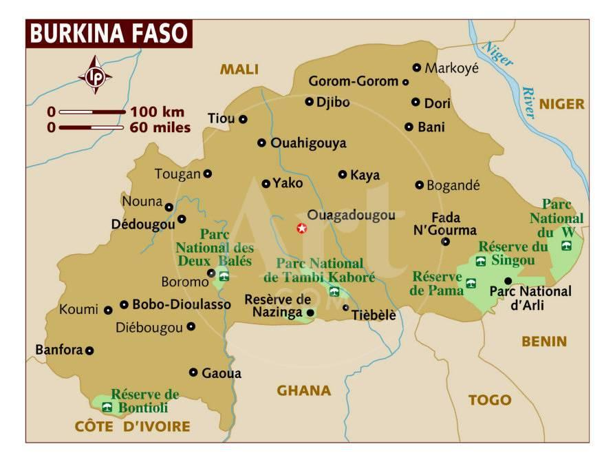 Map Of Burkina Faso Africa Photographic Print At Allposters Com