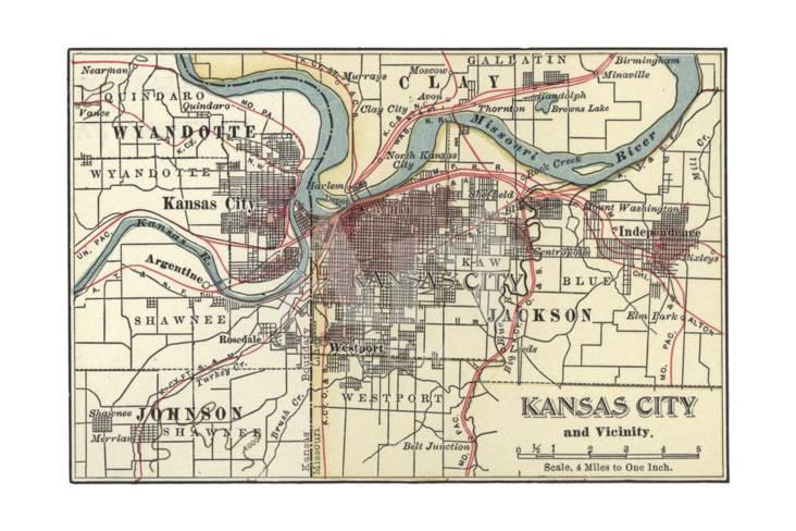 Alton Kansas Map.Map Of Kansas City Posters At Allposters Com