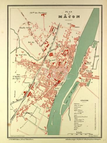 Macon France Map.Map Of Macon France Giclee Print By Allposters Ie