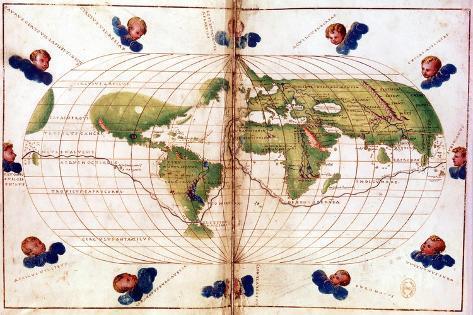 Map of Magellan's Round the World Voyage, 1519-1521 Giclee Print
