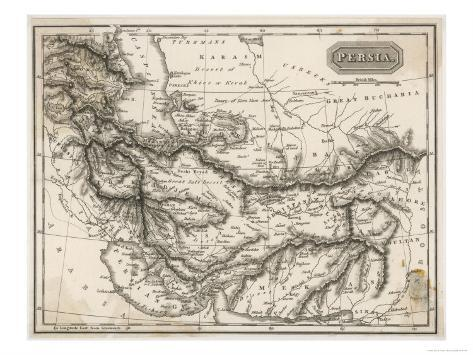Map of Persia Giclee Print