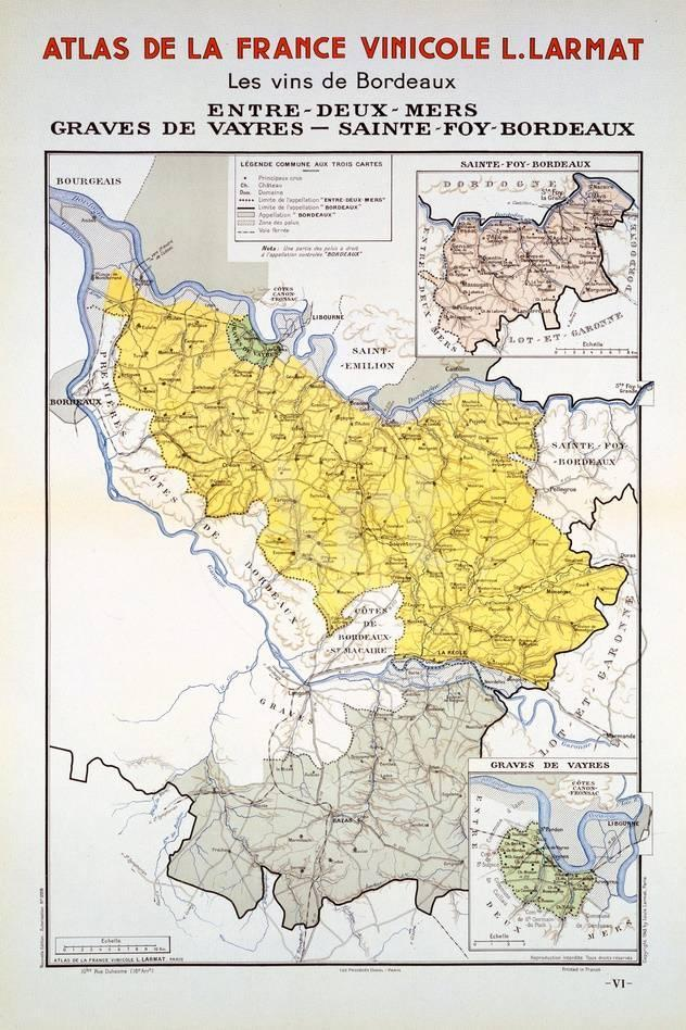 Map Of France Bordeaux.Map Of The Bordeaux Region Giclee Print At Allposters Com