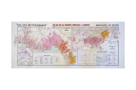 Map of the Champagne Region: Montagne De Reims and Eperon De Bouzy ...