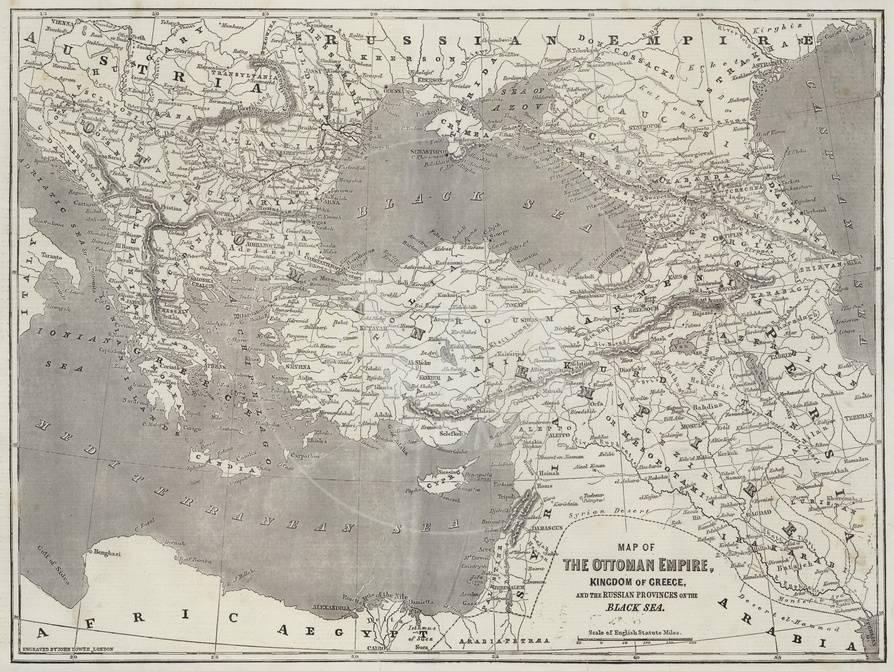 Map of the Ottoman Empire, Kingdom of Greece, and the Russian Provinces Kingdom Of Greece Map on empire of japan map, kingdom of poland map, grand duchy of tuscany map, ptolemaic kingdom map, kingdom of denmark map, ancient greece map, confederate states of america map, republic of colombia map,