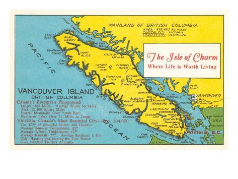 Map of vancouver island british columbia posters at allposters map of vancouver island british columbia gumiabroncs Gallery