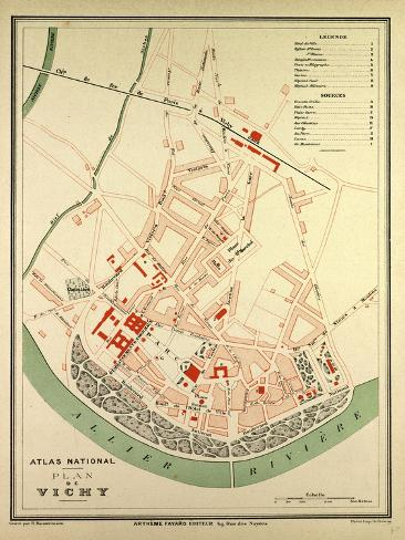 Map Of Vichy France Giclee Print At Allposters Com Au