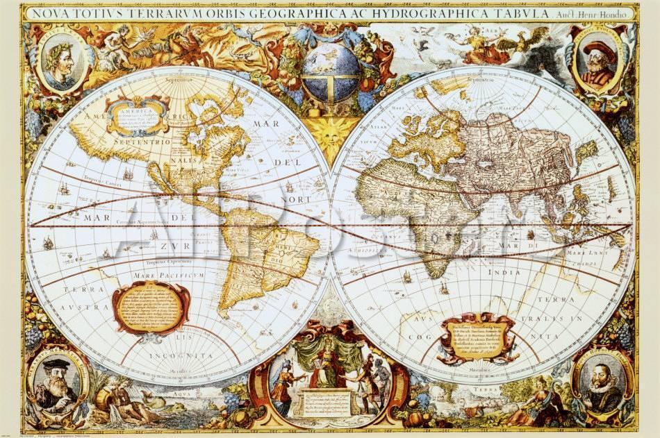 Mapa del mundo Láminas en AllPosters.es