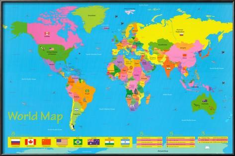mapa mundi criança Mapa múndi, crianças Pôsters na AllPosters.com.br mapa mundi criança