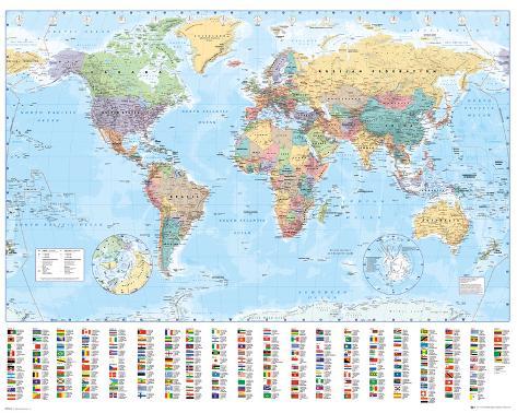Mapa-múndi Minipôster