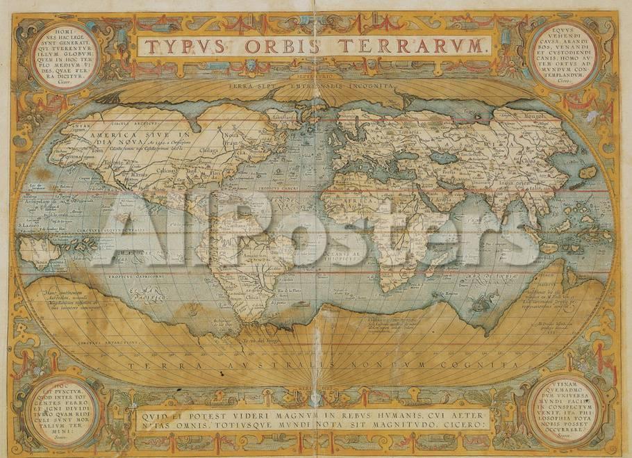 Mappa Del Mondo - Antique Style World Map Poster