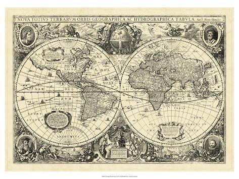 High Quality Mappa Del Mondo Vintage
