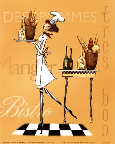 Sassy Chef IV Art Print